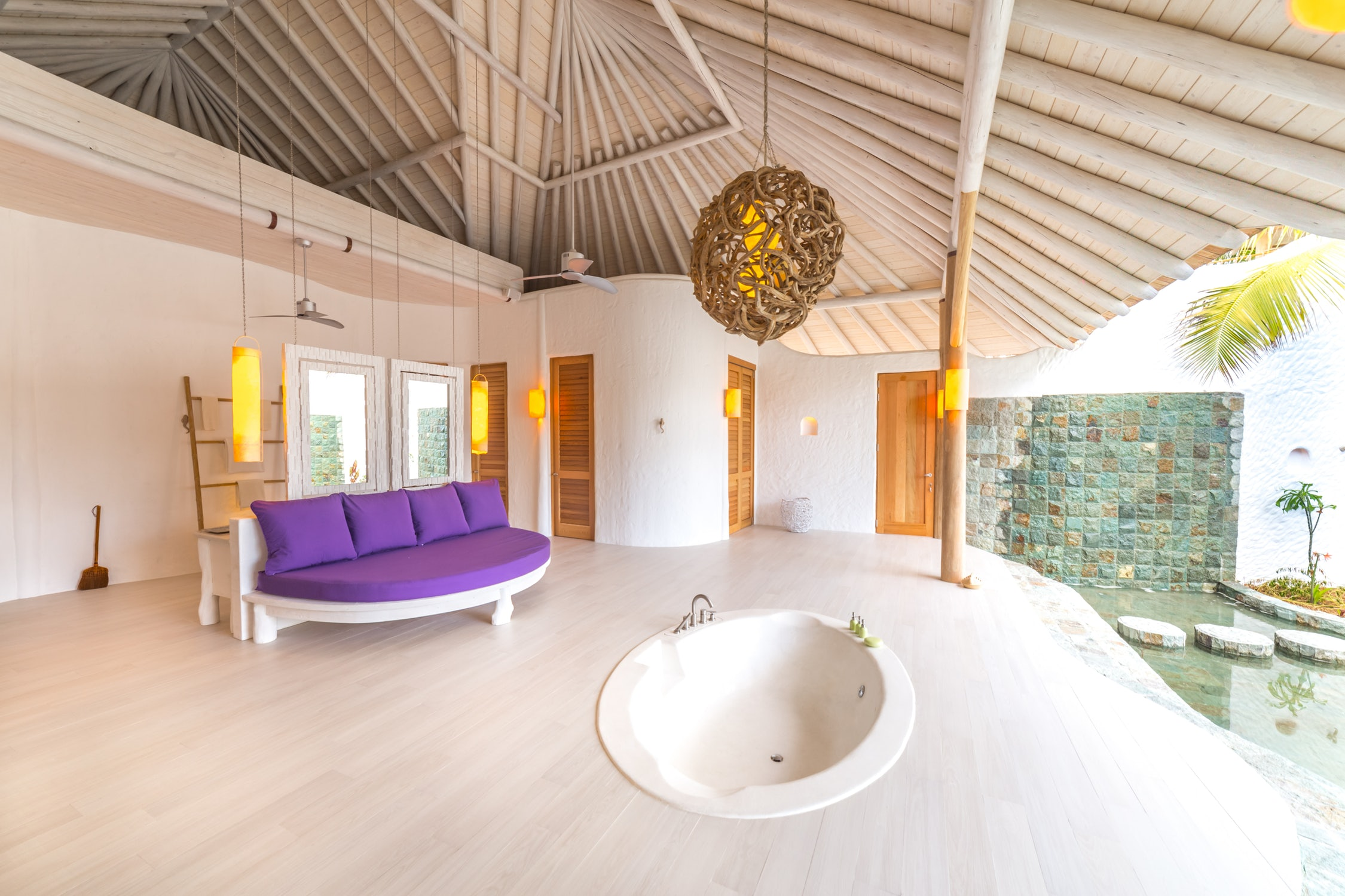 soneva jani 3 bedroom island reserve bath view